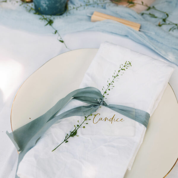 Personalised Script Wedding Place Setting