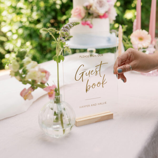 Personalised Sign Our Guest Book Wedding Sign