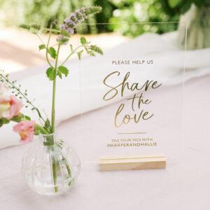 Personalised Social Media Wedding Sign