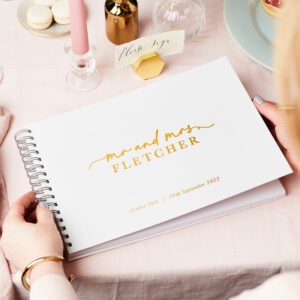 Martha Brook Personalised Stylish Wedding Guest Book