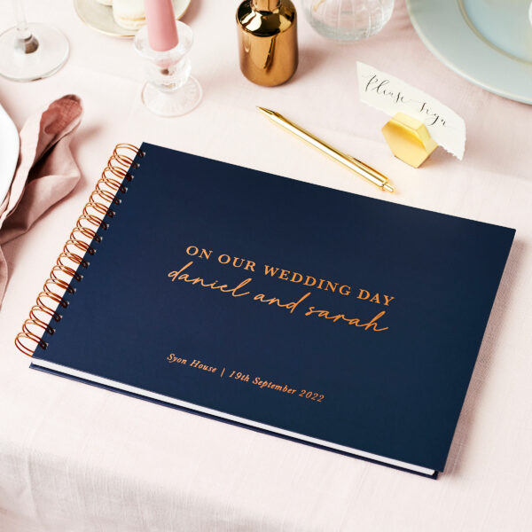 Martha Brook Personalised Timeless Wedding Guest Book