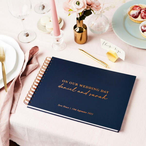 2 Personalised Timeless Wedding Guest Book