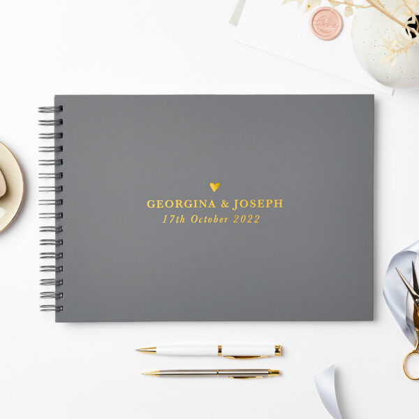 Martha Brook Personalised Traditional Wedding Guest Book