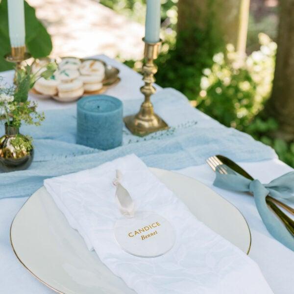 Martha Brook Personalised Wedding Favour Place Setting