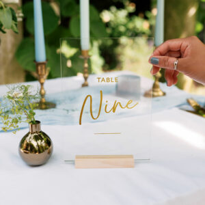Personalised Wedding Table Name Sign