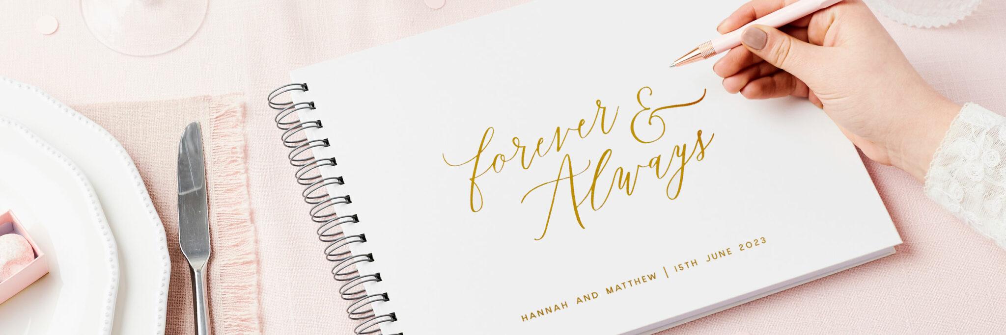 Martha Brook Personalised Wedding Guest Books
