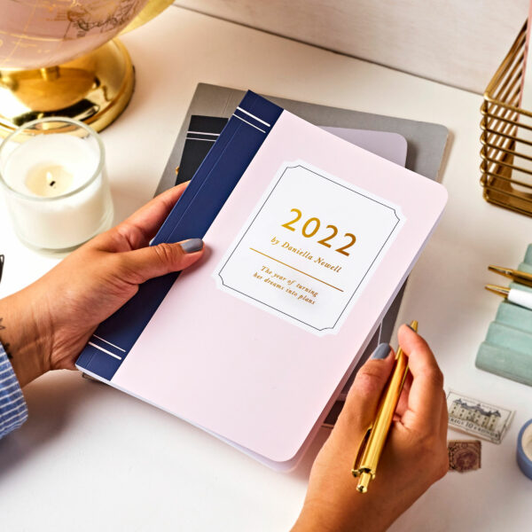 Personalised Book-Style 2022 Weekly Diary