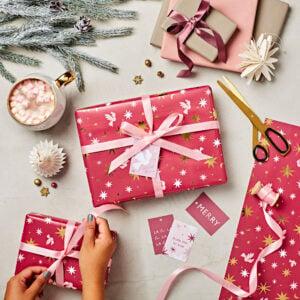 Berry Celestial Luxury Christmas Gift Wrap Set