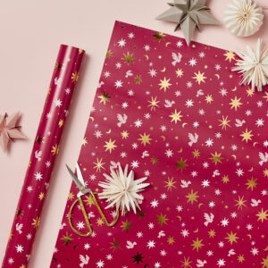 Berry Celestial Luxury Wrapping Paper