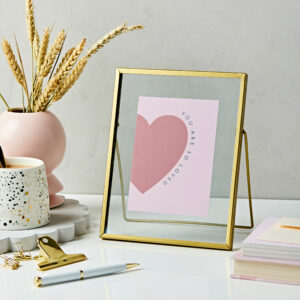 Gold Standing Photo Frame