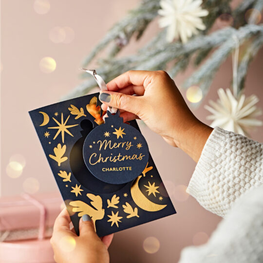 Martha Brook Personalised Pop Out Decoration Christmas Card