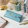 Personalised Vegan Leather Embossed Pencil Case