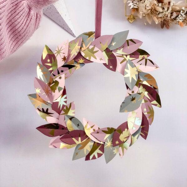 martha brook ways to reuse your stationery advent calendar christmas wreath